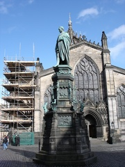 St. Giles and statue