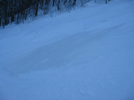 Icy slope at Bromont
